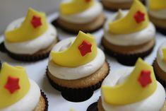 Wonder Woman Tiara Cupcakes