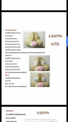 Crochet Doll Pattern, Teddy Bear, Dolls, Children, Animals, Rabbit, Amigurumi, Ganchillo, Sorting