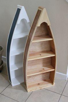 Baby Boy Nursery Boat bookshelf -Rowboat