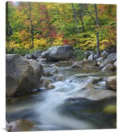 Swift River in Fall, White Mountains National Forest, New Hampshire
