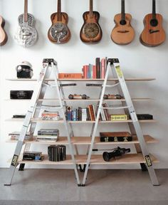 Recycling ladders into artistic furniture pieces. Here is a series of useful yet beautiful ideas for your home.