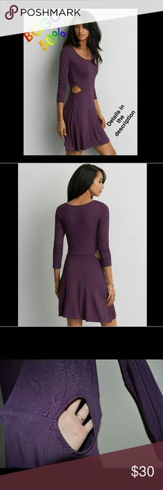 American Eagle Soft & Sexy Dress purple cut out American Eagle Soft & Sexy Dress Size Large *Buy One Get One 50% off. Bundle 2 dresses and I will send you an offer. 50% will be taken from lowest priced item* Cut Outs on Sides  Purple Worn Once. Reposhing because I didn't like the way it fit me. Ships in 1-3 business days! I usually answer questions within a couple hours. Feel Free to Make an offer! Smoke Free Home No offline transactions. No trades American Eagle Outfitters Dresses Mini Flattering Dresses, Sexy Dresses, American Eagle Outfitters Dresses, Buy One Get One, Large Size Dresses, Purple Dress, Cut Outs, Night Out, Party Dress