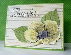 Hero Arts Digital Card - Thank You Poppy by Lucy Abrams, via Flickr