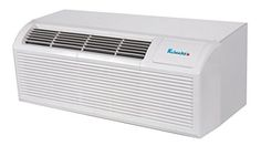 Klimaire BTU PTAC Packaged Terminal Heat Pump Air Conditioner with Electric Heater, Quick Condenser, Electronic Controls, Optional Remote, and Easy-Clean Filter in White