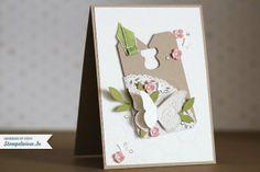 Geburtstagskarte Stampin' Up! mit Schmetterling und Tafelrunde