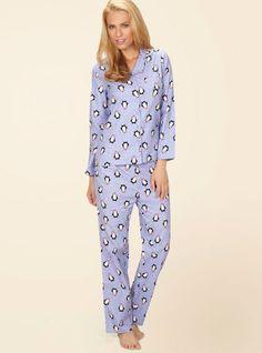 3d13a2fdea Cosy Penguin Pyjamas In A Bag - Cornflower