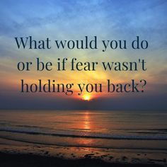 What would you do or be if fear wasn't holding you back? Do You Work, Your Back, Hold You, You Working, Mental Health, It Hurts, Feelings, Mental Illness