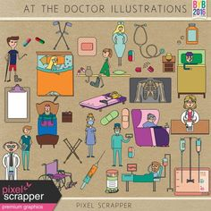 At the Doctor Illustrations Kit