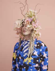 Mad Hatter: 11 avant-garde bonnets for Easter | HUNGER TV Hunger Magazine, Avant Garde Hair, New York Photography, Head Accessories, Race Day, Fashion Story, Photoshoot Inspiration, Hair Makeup, Mad