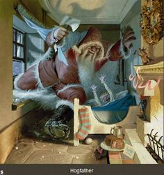 Discwolrd Calander 2015. Hogfather by Stephen Player.