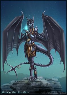 Anthro dragoness commission by DrakainaQueen on DeviantArt