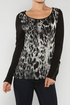 Animal Back Top #salediem wants you to ROAR!Enjoy your #animalprint #fall#fashion Shipping is FREE!