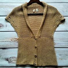 c4ed6b8135220c Moth Crochet Sweater. S. Gorgeous crocheted sweater by ANTHROPOLOGIE ~ MOTH  Small