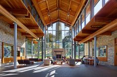 Agnes Irwin School, Athletic Center, Student Life Center, and Main Entrance Athletic Center, Vashon Island, College House, Shelter Island, Forest House, Main Entrance, Student Life, Country Farmhouse, New Construction