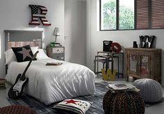 dormitorio para un adolescente rokero