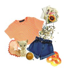 """""""Peachy """" by trvdie ❤ liked on Polyvore featuring Topshop, Beekman 1802, cute, peach, tumblr, grunge and aesthetic"""