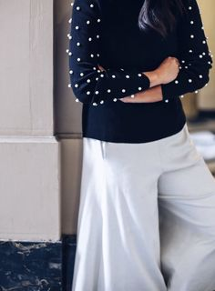 DIY Pearl Studded Sweater