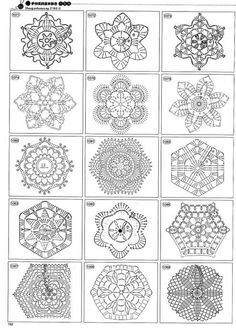 2180 Crochet Motifs - Donna Taylor - Álbuns da web do PicasaBeautiful and more crochet pattern ~ make handmade - handmade - handicraft Crochet Snowflake Pattern, Crochet Motif Patterns, Crochet Snowflakes, Crochet Diagram, Crochet Chart, Crochet Squares, Thread Crochet, Crochet Granny, Crochet Designs
