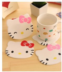 1Pcs New Hello kitty Anti Slip Kawaii Cup Mat Dish Bowl Placemat Coaster Base Kitchen Accessories Home Decoration F0515 #>=#>=#>=#>=#> Click on the pin to check out discount price, color, size, shipping, etc. Save and like it!