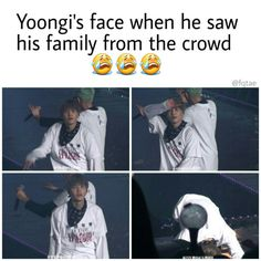 BTS SG | the first time Suga's family came to his concert to support him