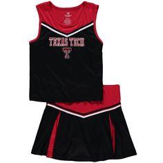 Texas Tech Red Raiders Colosseum Girls Youth Aerial Cheer Set - Black