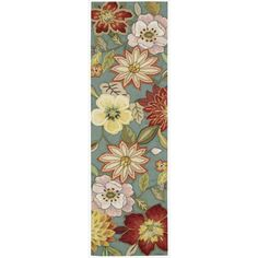 """Nourison Hand-hooked Fantasy Blue Polyacrylic Rug (2'3"""" x 8') - Overstock™ Shopping - Great Deals on Nourison Runner Rugs"""