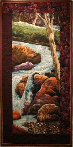 Spring Run Off - Bonnie Keller This is not just a quilt...... It is a beautiful piece of textile art.