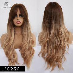 This wigs can be straightened or curled with a hair iron below 160 degrees Celsius (for reference only). Natural Hair Wigs, Long Hair Wigs, Natural Hair Styles, Long Hair Styles, Brown To Blonde, Light Blonde, Ombre Brown, Light Ash Brown, African American Fashion