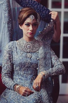 Look stunning in this amazing Pakistani bridal wear collection! For the elegant and chic bride who loves to experiment! Pakistani Wedding Dresses, Pakistani Bridal, Pakistani Outfits, Indian Bridal, Indian Dresses, Indian Outfits, Pakistani Couture, Indian Clothes, Bridal Outfits