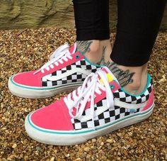 Vans sneakers uploaded by ♡ sierra ♡ on We Heart It Vans Sneakers, Sneakers Fashion, Fashion Shoes, Fashion Outfits, Custom Vans Shoes, Custom Sneakers, Cute Vans, Lit Shoes, Oldschool