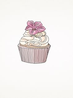 Pink pastel cupcake. www.tobeme.com.pl