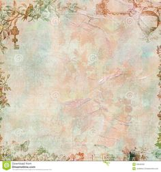 Pastel Grungy Vintage Floral Scrapbook Frame - Download From Over 45 Million High Quality Stock Photos, Images, Vectors. Sign up for FREE today. Image: 20045500