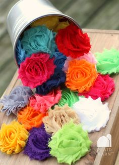 colorful chiffon flowers