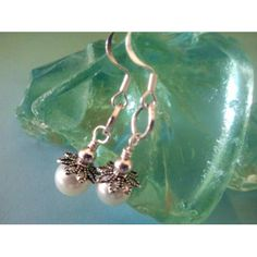 Original hand crafted Dangling pearl earrings $10