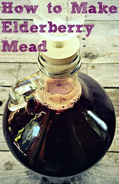 Mead, or fermented honey wine, is a delicious ancient fermented beverage and it's so easy to make! This elderberry mead, made with foraged berries, is a wonderful version of classic mead and perfect for the holidays. Fermented Honey, Fermented Foods, Kombucha, Mead Wine, Mead Beer, How To Make Mead, Honey Wine, Wine Making, Making Mead