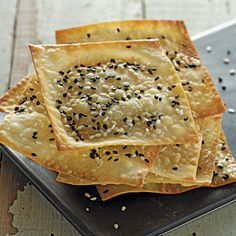 Sesame Won Ton Crisps Recipe