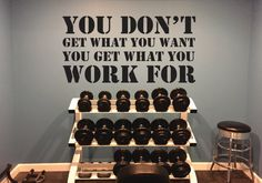 Classroom Decor Gym Decor You Don't Get What You by JandiCoGraphix
