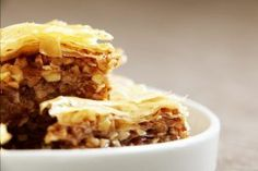 Delicious Dessert From Baklava Pastry - Yummy Recipes Delicious Desserts, Yummy Food, Yummy Yummy, Yummy Recipes, Dessert Recipes, Baklava Recipe, Thai Dessert, Strudel, Biscotti