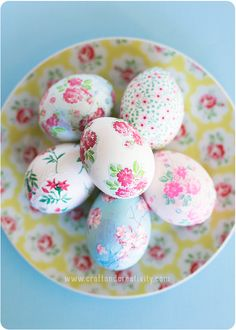 Feeling a bit underwhelmed by your usual Easter craft routine? Put away the dye, raid your paper stash, and then make pretty decoupage easter eggs instead!