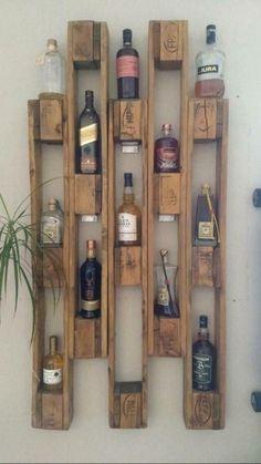 Pallet Home Decor, Wooden Pallet Projects, Diy Pallet Furniture, Diy Home Decor, Room Decor, Scrap Wood Crafts, Small Wood Projects, Furniture Decor, Diy Home Bar