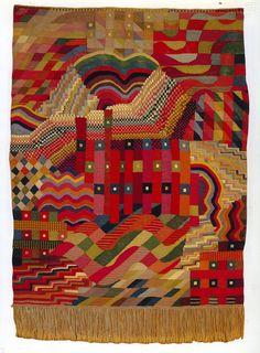 The Bauhaus Textiles of Gunta Stölzl & Anni Albers. Vải thêu do Anni Albers làm ra. Art Fibres Textiles, Textile Fiber Art, Textile Artists, Textile Patterns, Textile Design, Fabric Design, Bauhaus Textiles, Anni Albers, Bauhaus Design