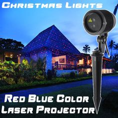 93.40$  Watch now - http://ali5cz.worldwells.pw/go.php?t=32717597019 - 2016 Christmas New Year Outdoor Laser Light Projector Decor Garden Double Color Red Blue IP65 Waterproof