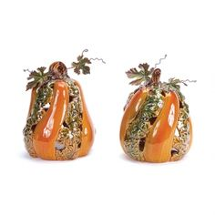 Pumpkin Tea Light Holder How cute are these for this Fall season!