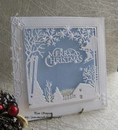Christmas shaker card.. WinterTide Frame.