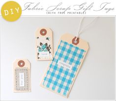 Fabric Scrap Gift Tags | 51 Seriously Adorable Gift Tag Ideas