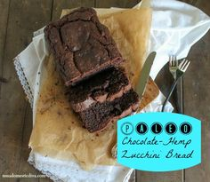Paleo Chocolate Hemp Zucchini Bread - I would tweak the coconut to be almond and cocoa to be cacao powder. Best Gluten Free Desserts, Gluten Free Cupcakes, Allergy Free Recipes, Gluten Free Pumpkin, Gluten Free Baking, Easy Desserts, Paleo Baking, Chocolate Zucchini Bread, Paleo Chocolate
