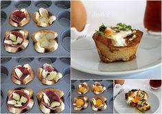 Daddy Cool!: Λαχταριστες φωλιτσες με ψωμι του τοστ!Τελεια ιδεα για πρωινο!
