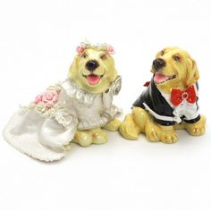 Golden Retriever Dog Wedding Cake Toppers C00003