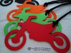 dirt bike party ideas | Dirt Bike Hang Tags MotorBike Die Cut Party Favor Boys MotoCross ...