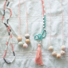 This tutorial will show you how to make tassels and paint wooden beads to create pretty necklaces. Invite friends over for a craft party!